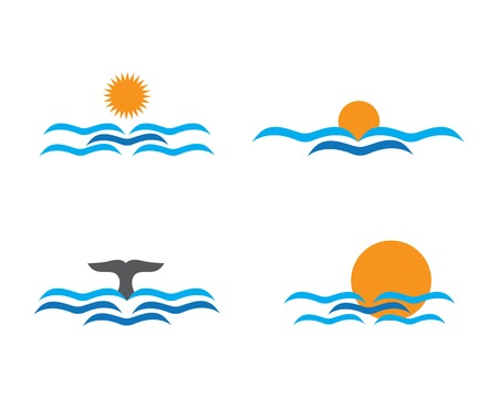 Water Wave Template. vector Icon illustration