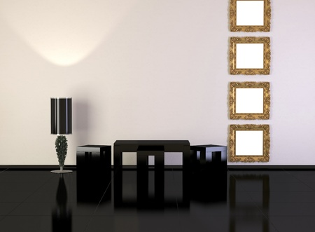 Design interior of elegance modern living room, minimalism, similar compositions available in my portfolio