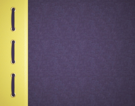 photo album book: Violet and yellow cover for an photo album. Beautiful background for scrapbooking.