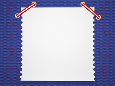Notebook paper background. Funny childrens framework. photo