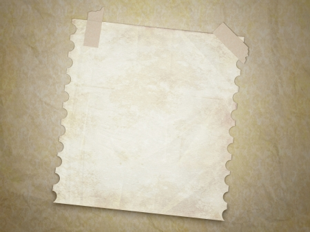 Dirty grunge texture background with old note page. Vintage wallpaper.