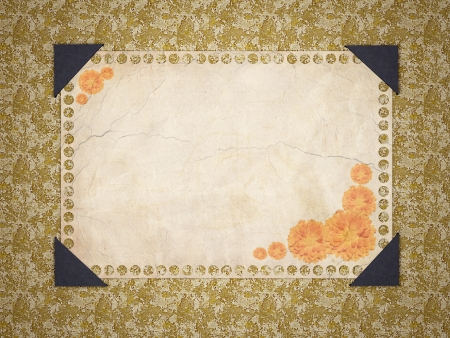 Card for greeting or invitation on the vintage background. Framework. photo