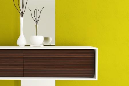interior shot: Detail shot of modern living room furniture. Interior design. Stock Photo