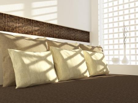 Modern bedroom interior design. Stock Photo