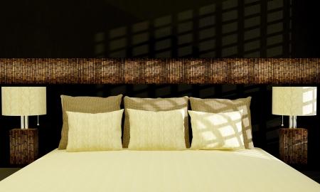 Modern bedroom interior design. Stock Photo - 14017069