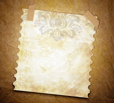 burnt paper: Dirty grunge texture background with old note page. Vintage wallpaper.