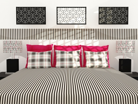 Modern bedroom inter design. Stock Photo - 14017065