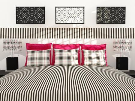 Modern bedroom interior design. Stock Photo - 14017065