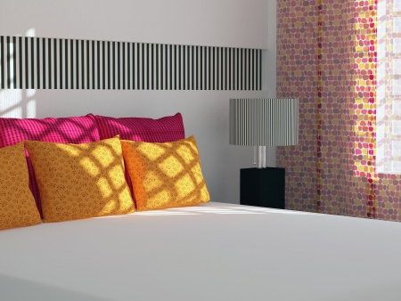 Modern bedroom inter design. Stock Photo - 14017050