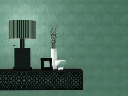 Detail shot of modern living room furniture. Inter design. Stock Photo - 14017084