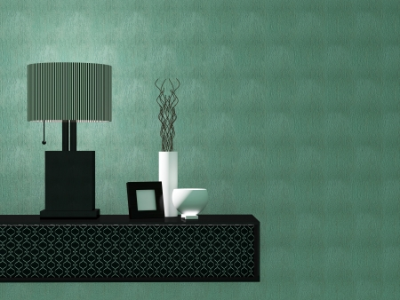 Detail shot of modern living room furniture. Interior design. Stock Photo - 14017084