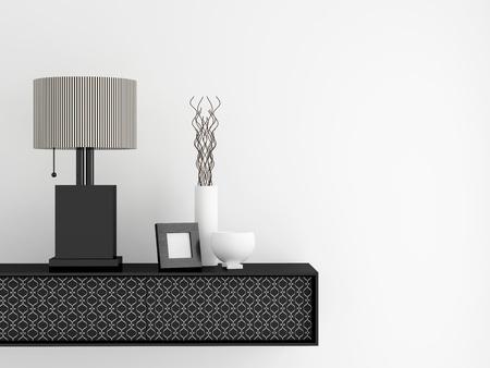 Détail coup de mobilier salon moderne. Le design intérieur.