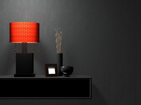 Detail shot of modern living room furniture. Interior design. Stock Photo