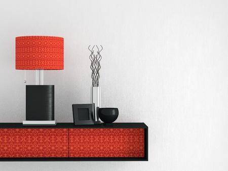 furniture detail: Detail shot of modern living room furniture. Interior design. Stock Photo