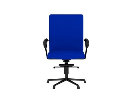 designer chair: Blue office armchair isolated on the white background, 3D illustrationrender