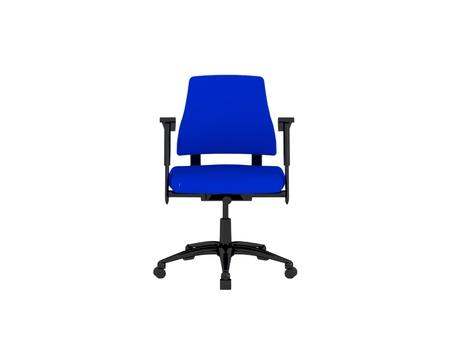 Blue office armchair isolated on the white background, 3D illustrationrender illustration