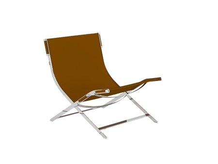 Brown armchair for relax isolated on the white background, 3D illustrationrender illustration