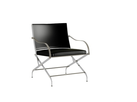 Black office armchair isolated on the white background, 3D illustrationrender illustration