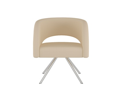 isolated chair:  office armchair isolated on the white background, 3D illustrationrender Stock Photo