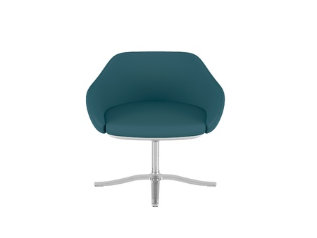 Green elegance office armchair isolated on the white background, 3D illustrationrender illustration