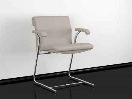 Modern office armchair in black and white room, 3d render/illustration Stock Illustration - 14872012