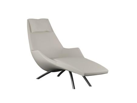 Stuhl: Moderne wei�e Sessel zum Entspannen auf wei�em Hintergrund, 3d render  Illustration