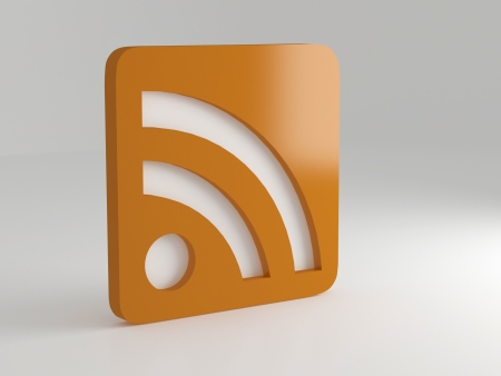 really simple syndication: rss symbol, illustrationrender Stock Photo