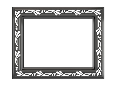 ornamented: Antique ornamented picture frame isolated on white Stock Photo