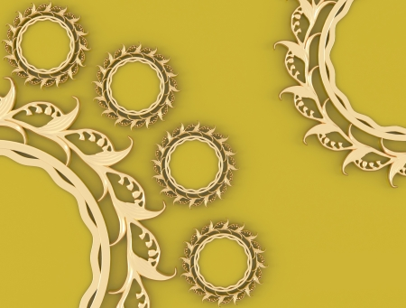 ornamented: Nice composition, gold ornamented frames