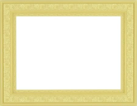 antique gold picture frames: antique ornamented empty golden picture frame
