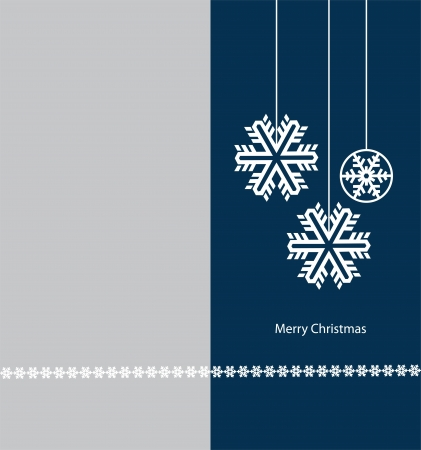 merry christmas greeting card with snowflake photo