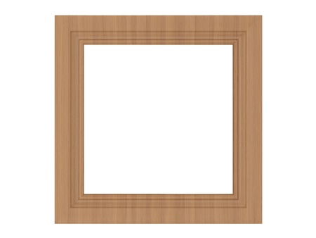 matted: wooden empty picture frame isolated on white Stock Photo