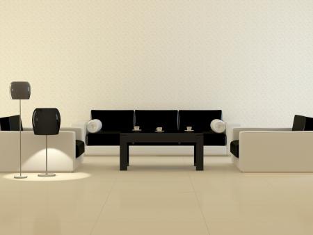 Design interior of elegance modern living room