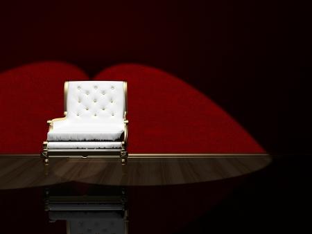 Classic armchair floodlighting, 3d render Stock Photo - 15135375
