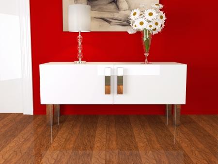 Parte do design de interiores moderno, agrad