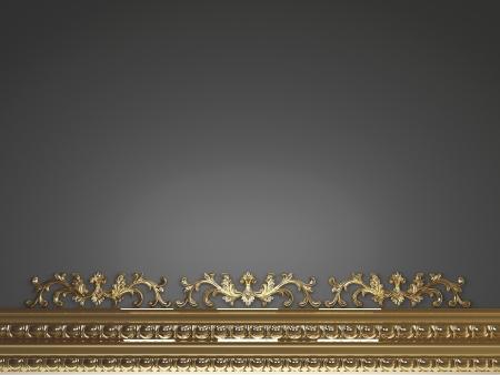 molding: Classic dark background for design, 3d render