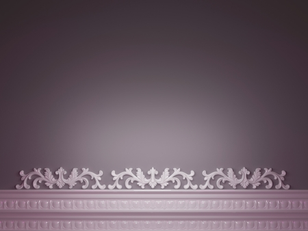 Classic purple background for design, 3d render Stock Photo - 15428882