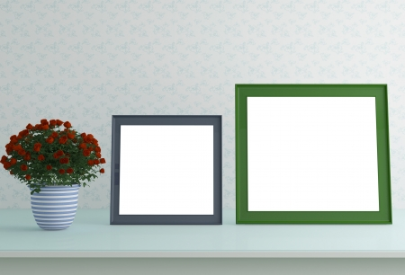 Picture Frames for Home Decoration. Interior composition. photo