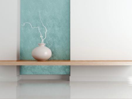 mensole: Dettaglio colpo di arredamento moderno soggiorno. Interior design.