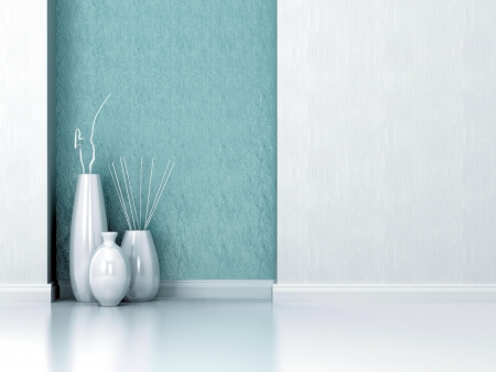 Detail shot of modern living room wall. Interior design. Stock Photo
