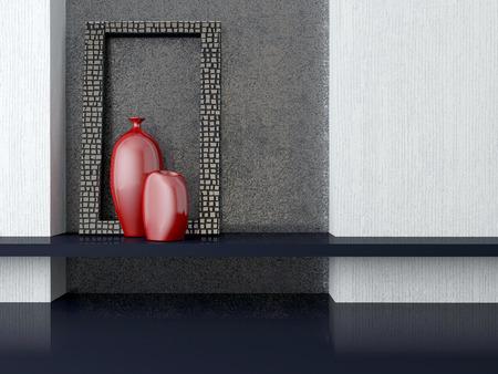 Detail shot of luxurious living room furniture  Interior design  photo