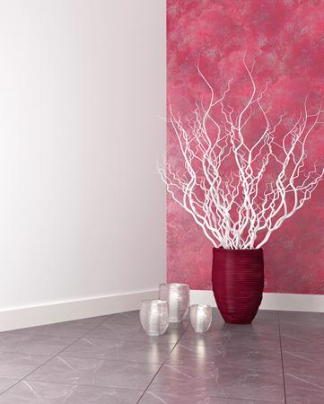 arboles blanco y negro: Diseño de interiores de lujo. Sala de estar moderna decoración.