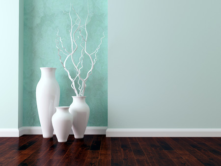 Detail shot of modern living room wall. Luxury interior design. Stock Photo