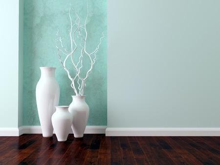 interior shot: Detail shot of modern living room wall. Luxury interior design. Stock Photo