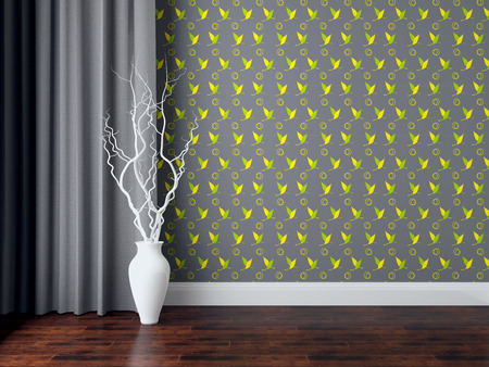 classic living room: Detail shot of modern living room wall. Luxury interior design. Stock Photo
