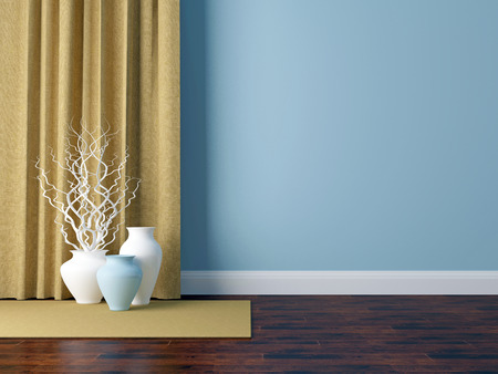 wall design: Detail shot of modern living room wall. Luxury interior design. Stock Photo