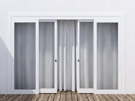 finestra: Moder porta d'ingresso in vetro.