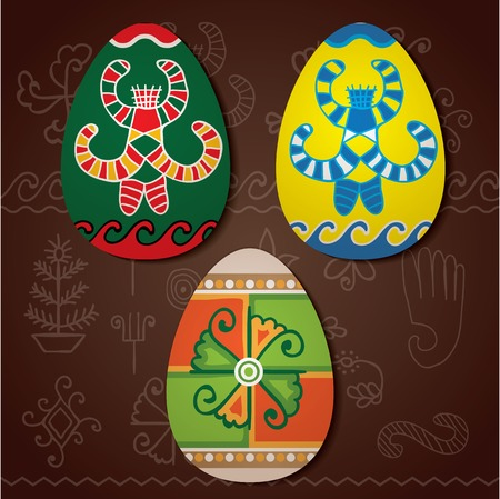 slavic: Traditional hand drawn folk ornament with flower mill and slavic godness Berehinya.