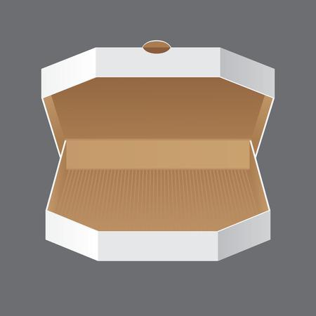 Produit Emballage Vector. Ouvrir Blanc Blank Carton Pizza Box Banque d'images - 38120924