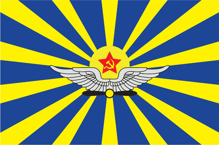 socialist: An Illustrated Drawing of the flag of Air Forces of the Union of Soviet Socialist Republics